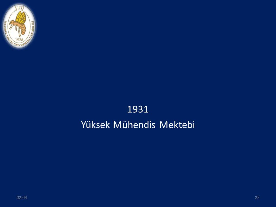1931 Yüksek Mühendis Mektebi