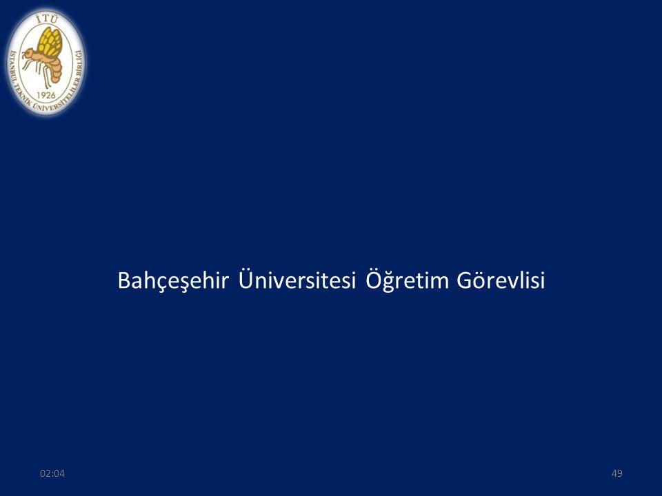 Bahçeşehir Üniversitesi Öğretim Görevlisi