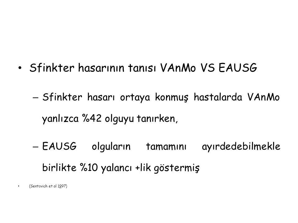 Sfinkter hasarının tanısı VAnMo VS EAUSG