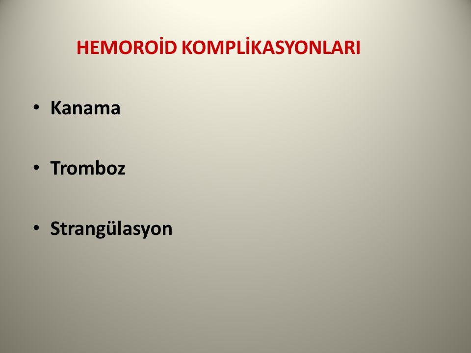 HEMOROİD KOMPLİKASYONLARI