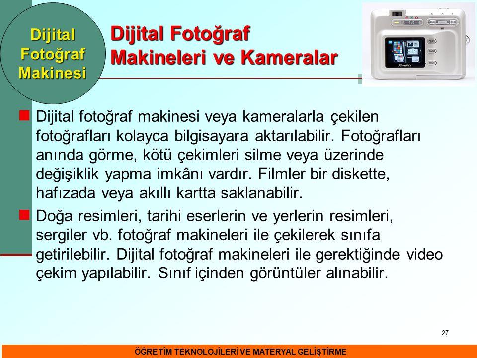 Dijital Fotoğraf Makineleri ve Kameralar