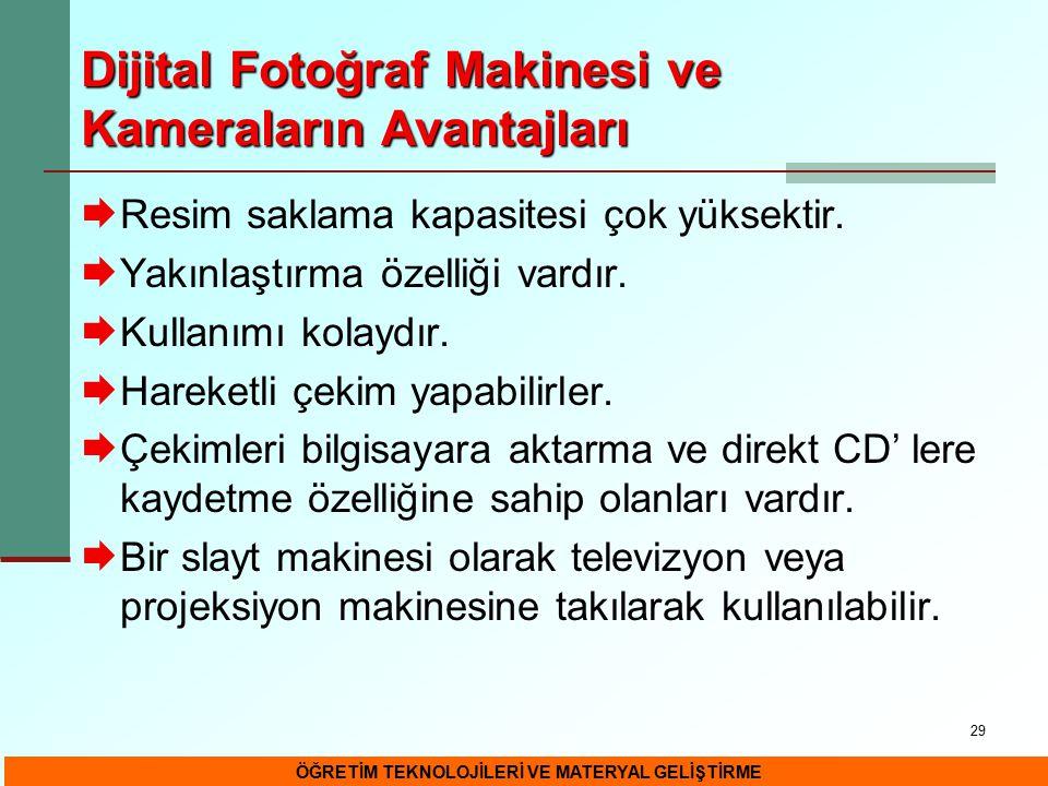 Dijital Fotoğraf Makinesi ve Kameraların Avantajları