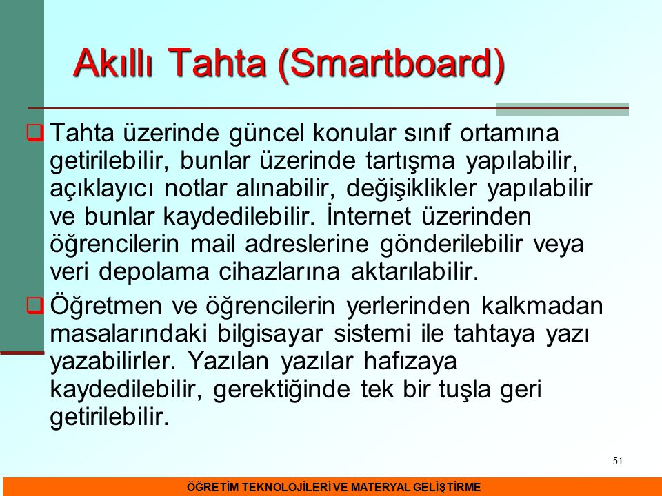 Akıllı Tahta (Smartboard)