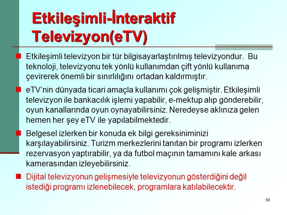 Etkileşimli-İnteraktif Televizyon(eTV)