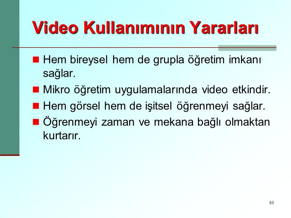 Video Kullanımının Yararları