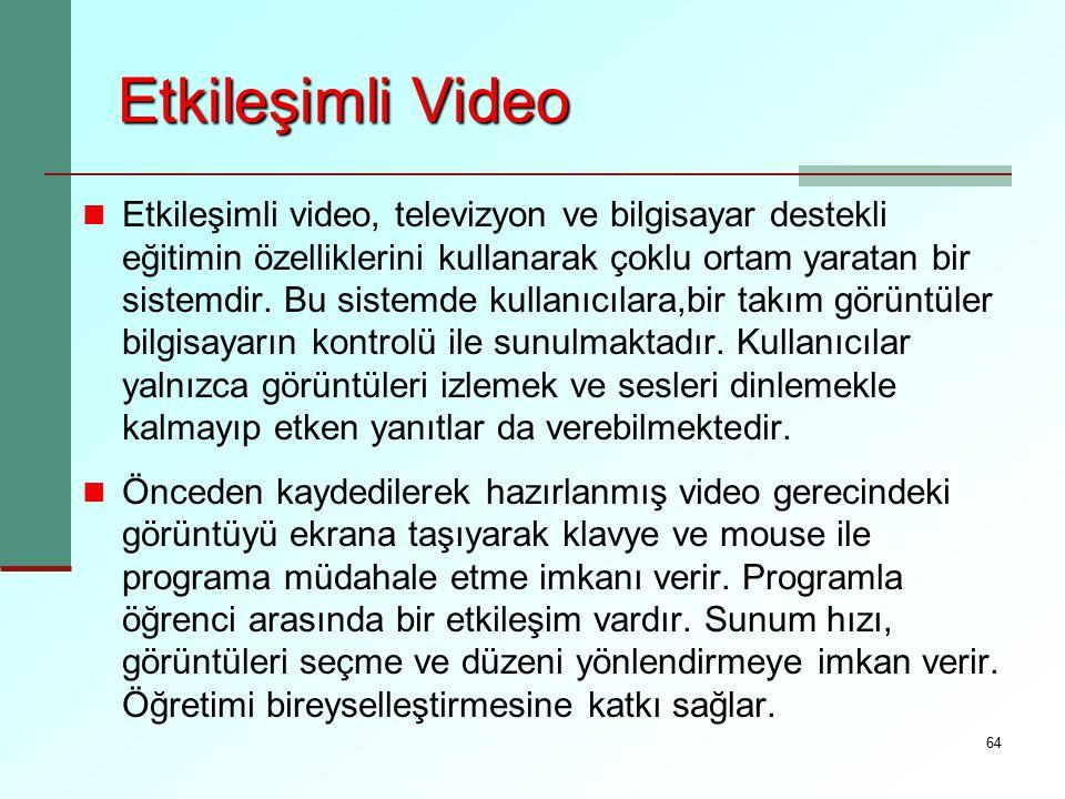Etkileşimli Video