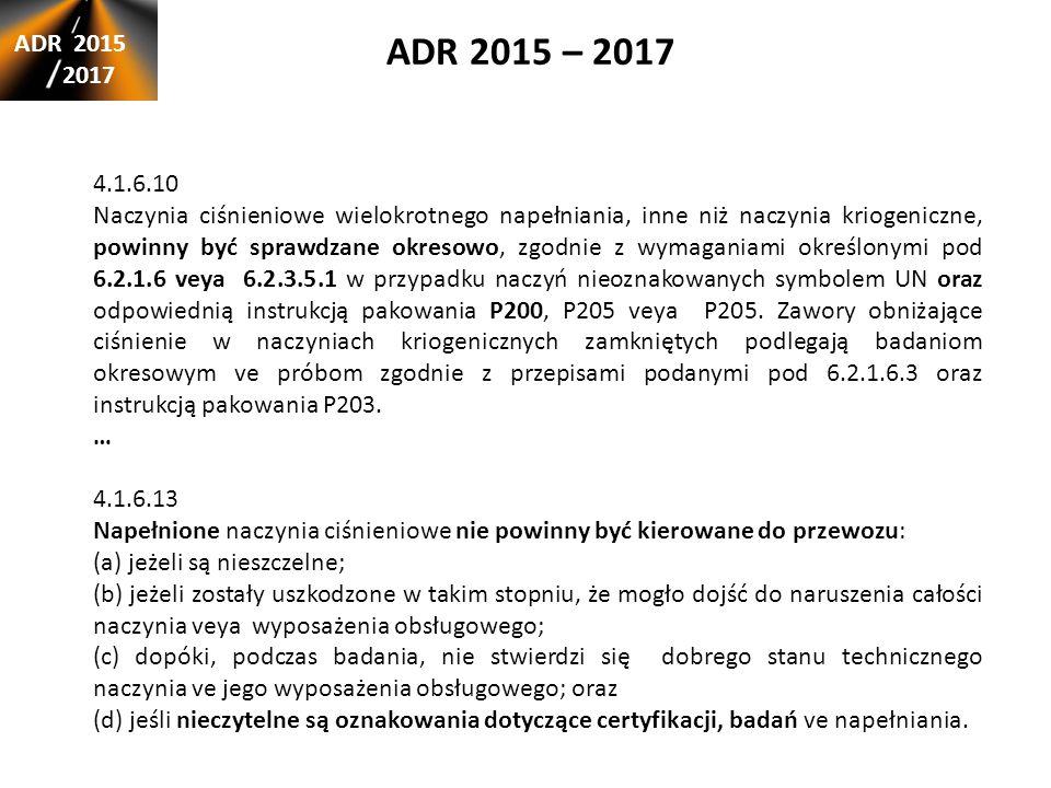 ADR 2015 – 2017 ADR 2015. 2017. 4.1.6.10.