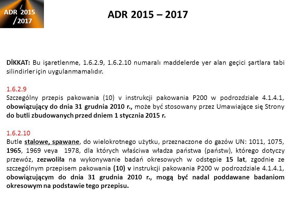 ADR 2015 – 2017 ADR 2015. 2017.