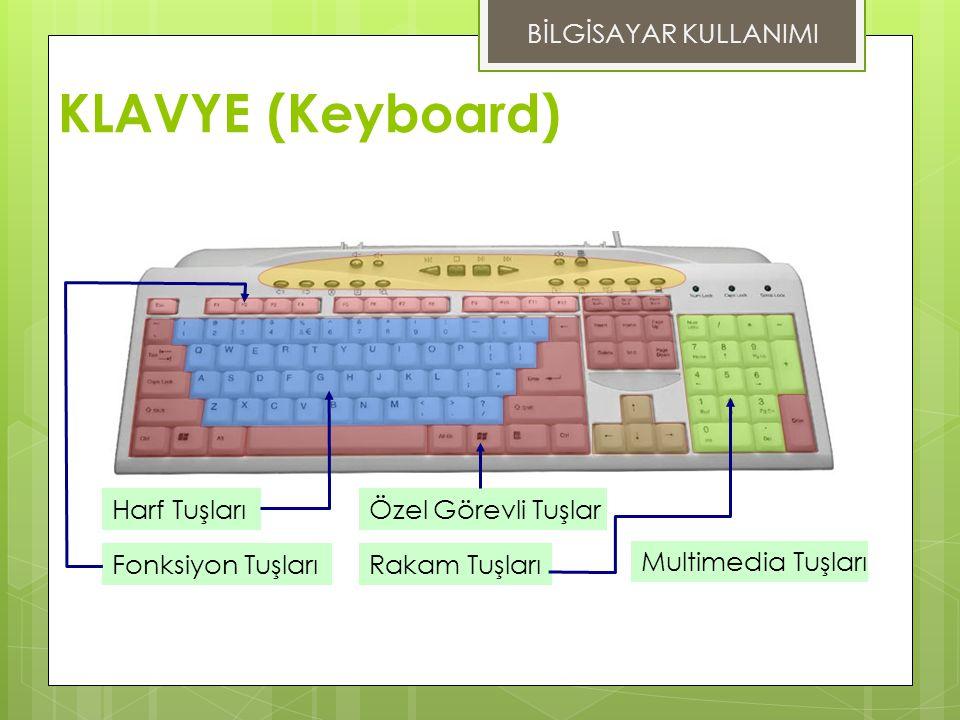 KLAVYE (Keyboard) BİLGİSAYAR KULLANIMI Harf Tuşları