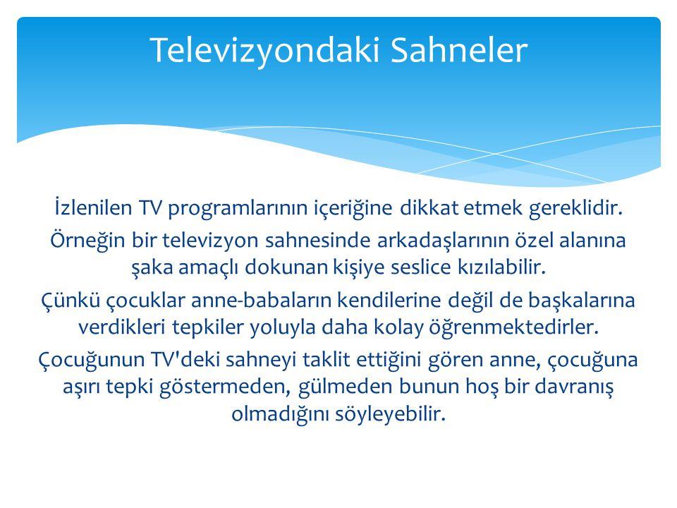 Televizyondaki Sahneler