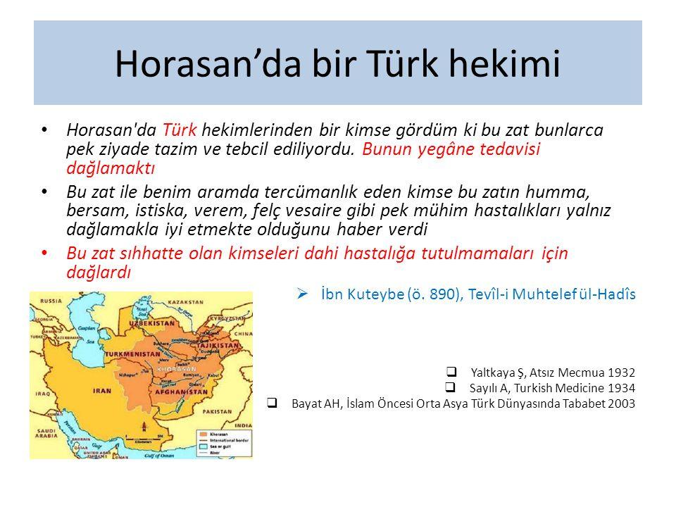 Horasan'da bir Türk hekimi