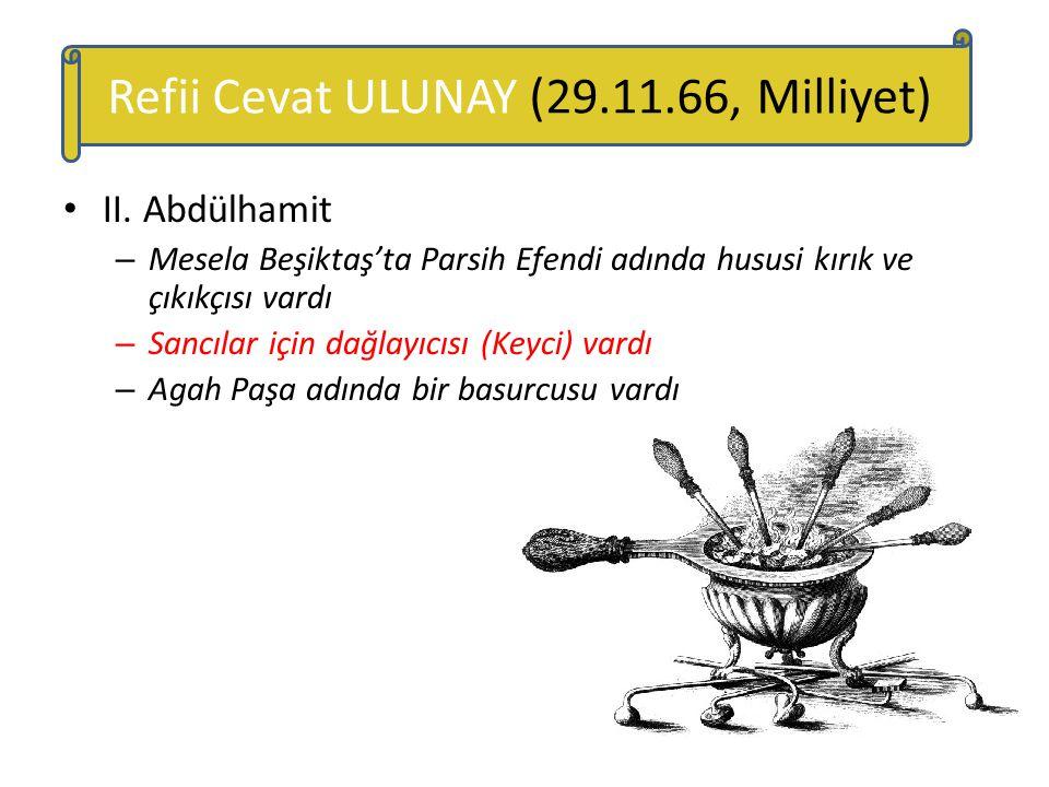 Refii Cevat ULUNAY (29.11.66, Milliyet)