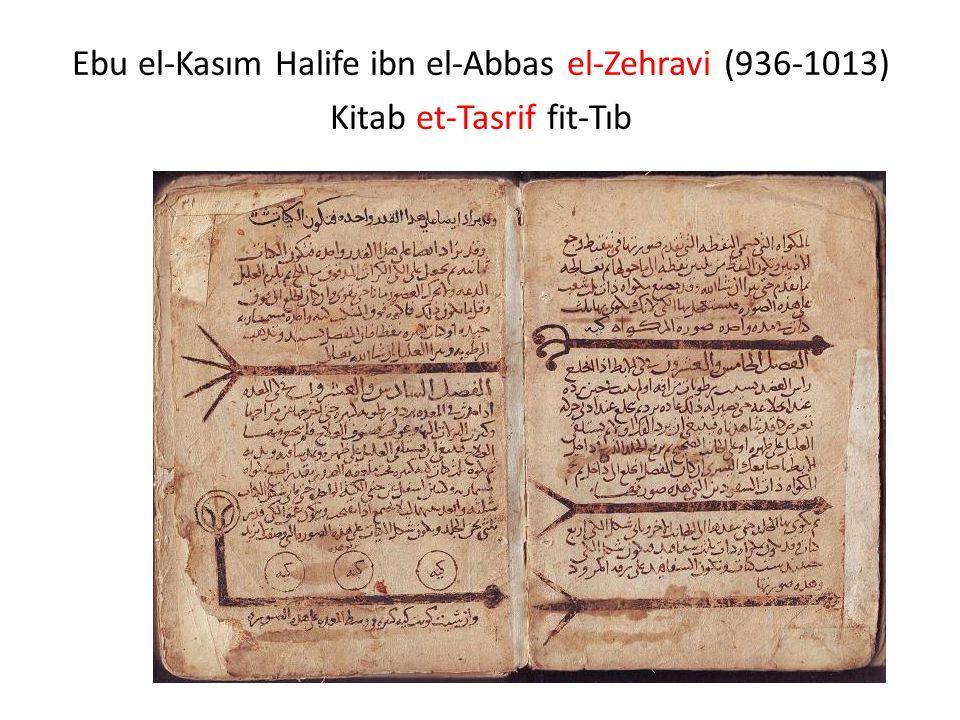 Ebu el-Kasım Halife ibn el-Abbas el-Zehravi (936-1013)