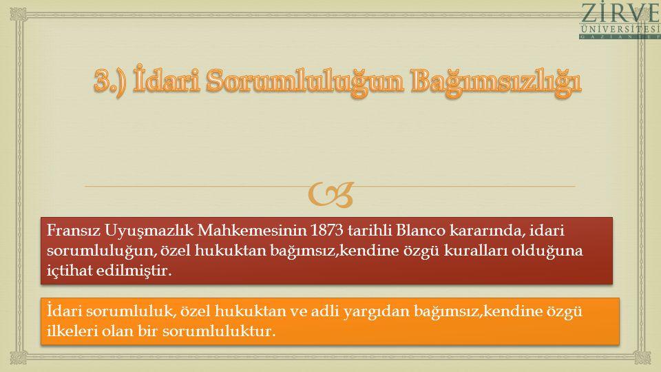 3.) İdari Sorumluluğun Bağımsızlığı