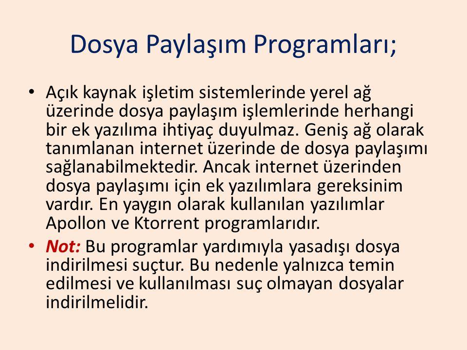Dosya Paylaşım Programları;