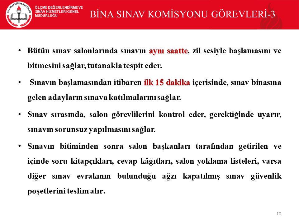 BİNA SINAV KOMİSYONU GÖREVLERİ-3
