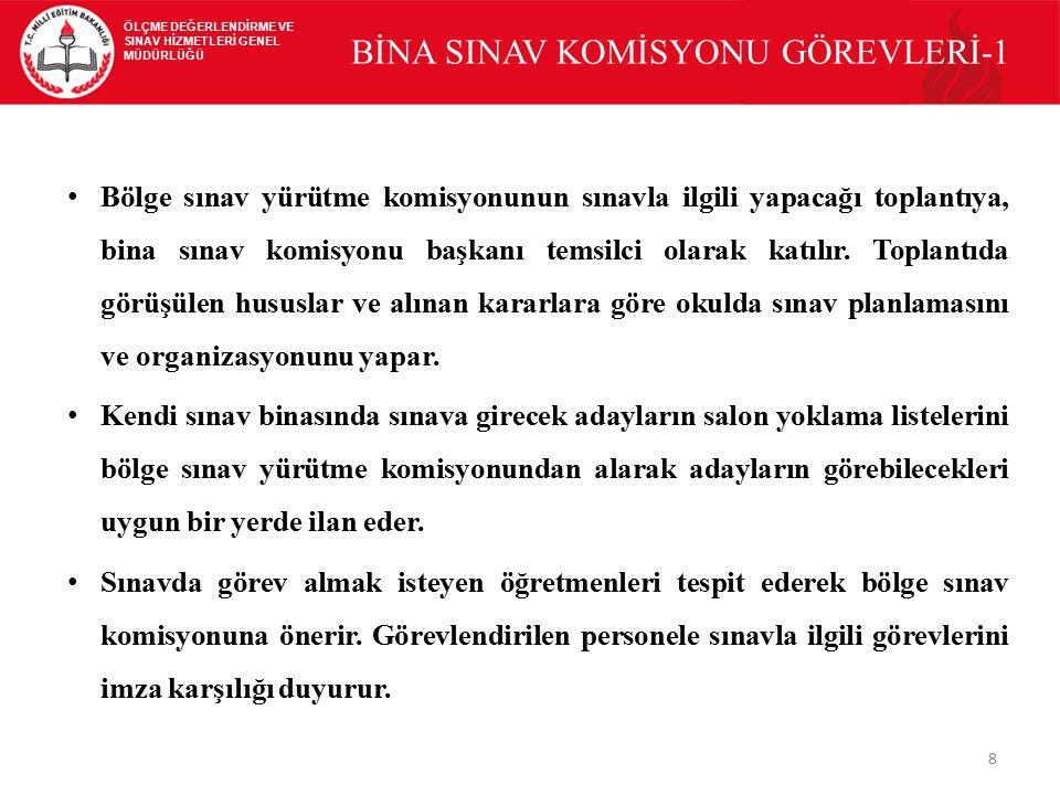 BİNA SINAV KOMİSYONU GÖREVLERİ-1
