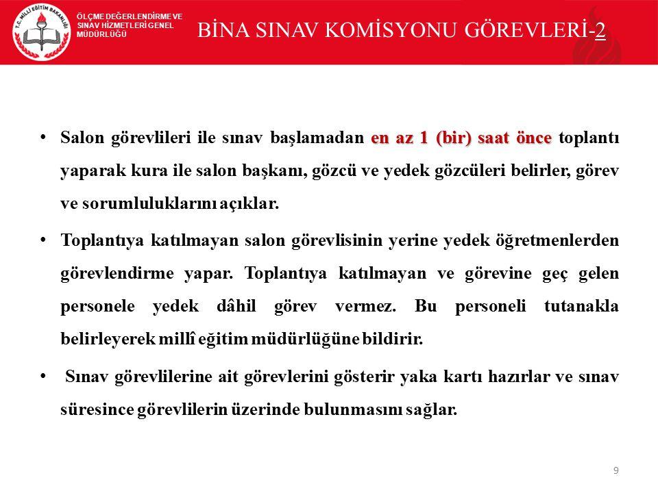 BİNA SINAV KOMİSYONU GÖREVLERİ-2