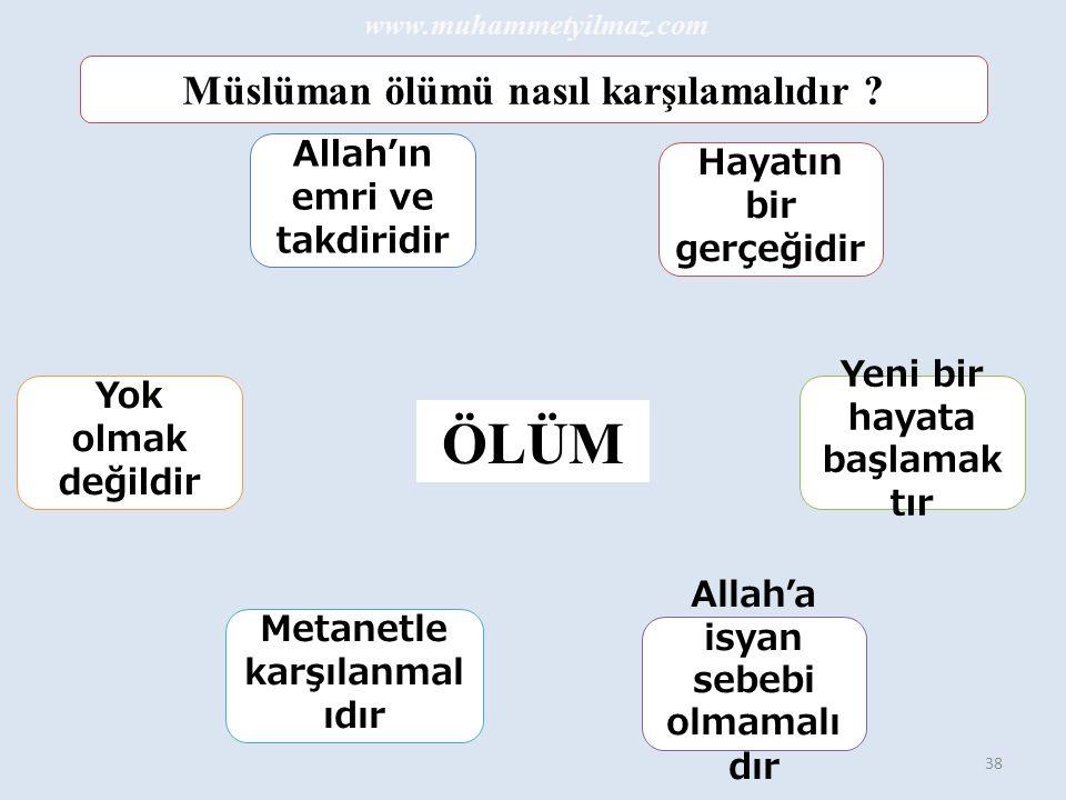 ÖLÜM Müslüman ölümü nasıl karşılamalıdır Allah'ın emri ve takdiridir