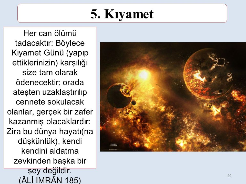 5. Kıyamet