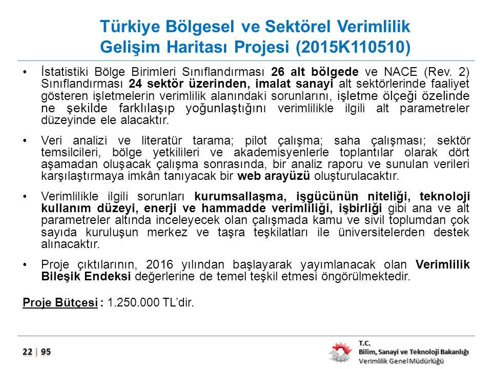 Türkiye Bölgesel ve Sektörel Verimlilik Gelişim Haritası Projesi (2015K110510)