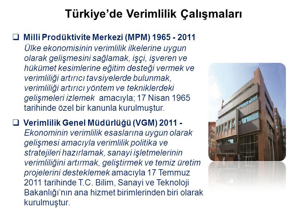 Türkiye'de Verimlilik Çalışmaları
