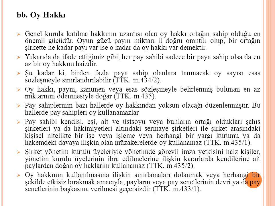 bb. Oy Hakkı