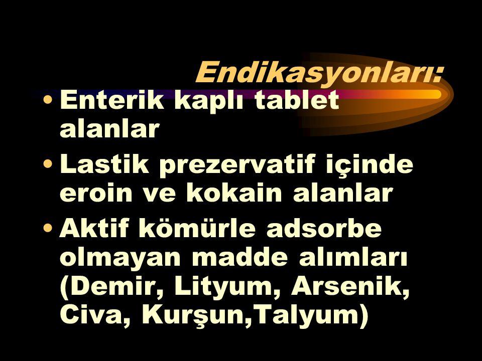 Endikasyonları: Enterik kaplı tablet alanlar