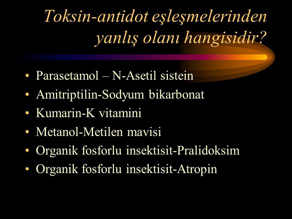 Toksin-antidot eşleşmelerinden yanlış olanı hangisidir