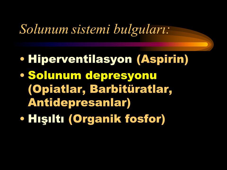 Solunum sistemi bulguları: