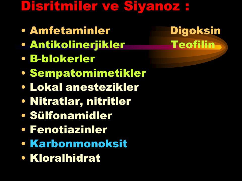 Disritmiler ve Siyanoz :