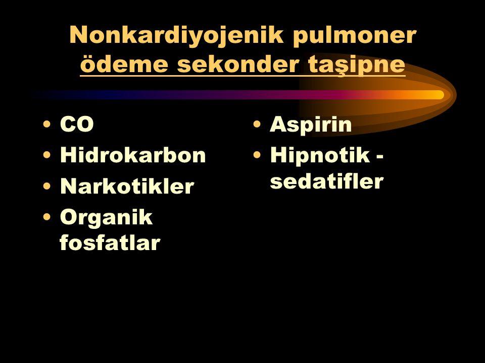 Nonkardiyojenik pulmoner ödeme sekonder taşipne
