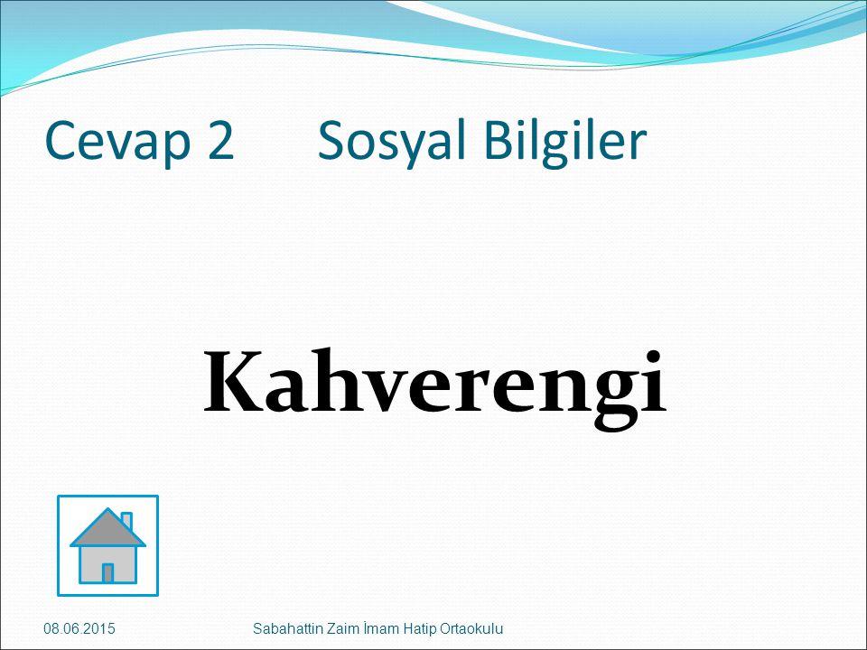 Kahverengi Cevap 2 Sosyal Bilgiler 16.04.2017