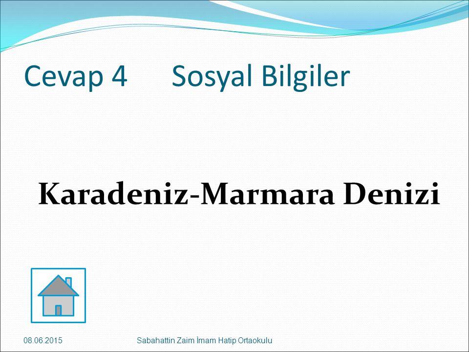 Karadeniz-Marmara Denizi