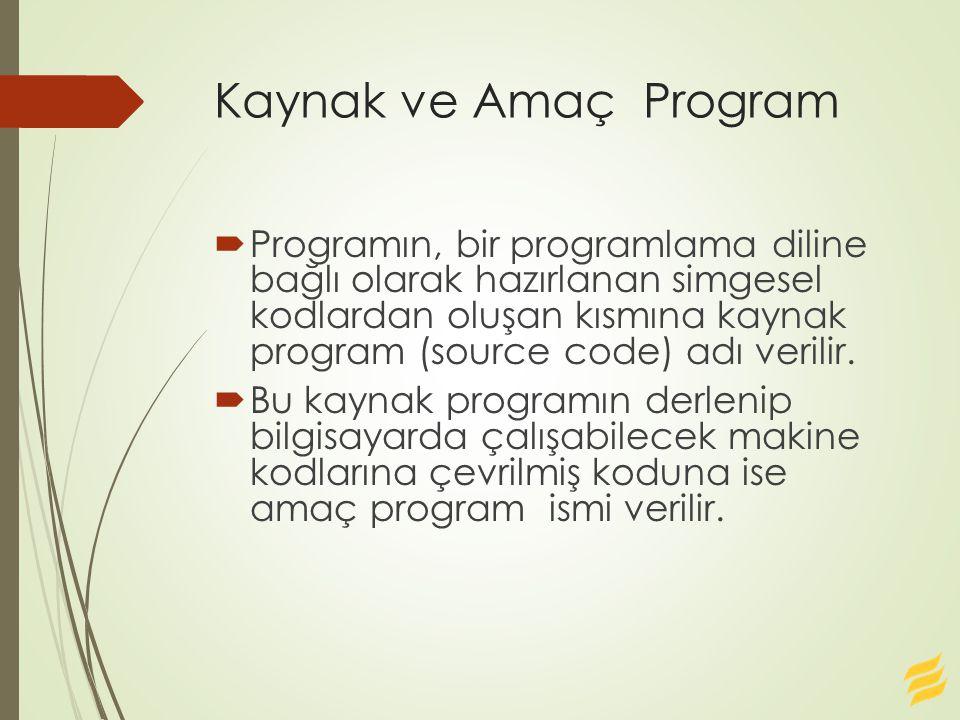 Kaynak ve Amaç Program