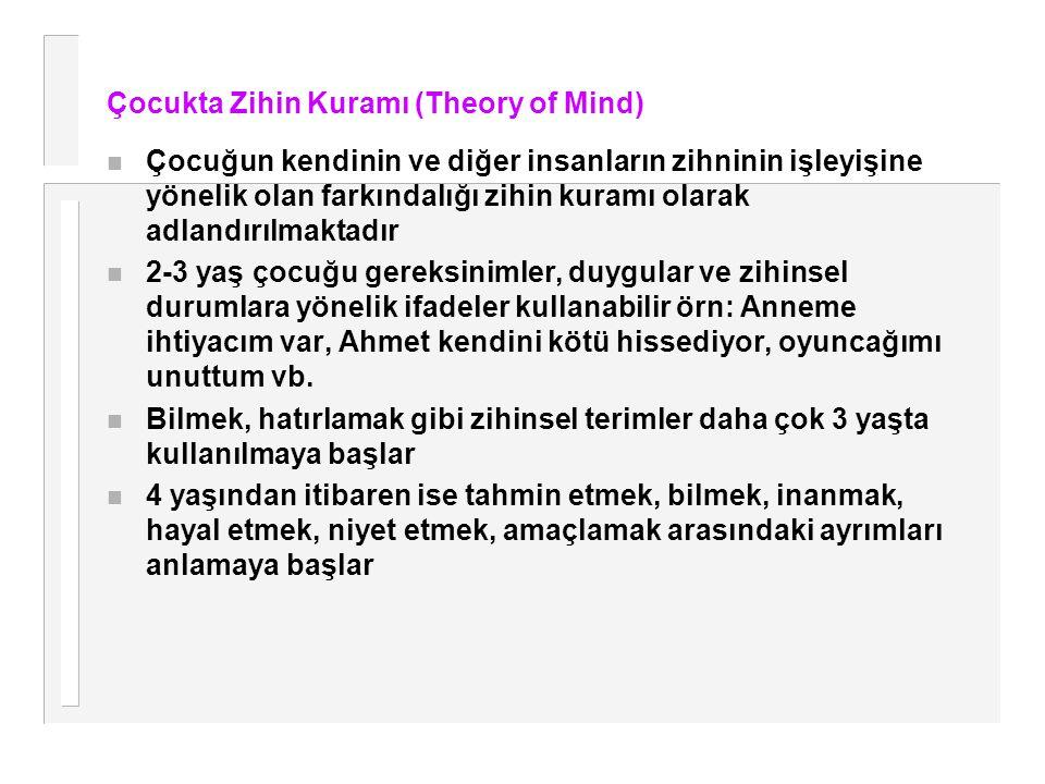 Çocukta Zihin Kuramı (Theory of Mind)