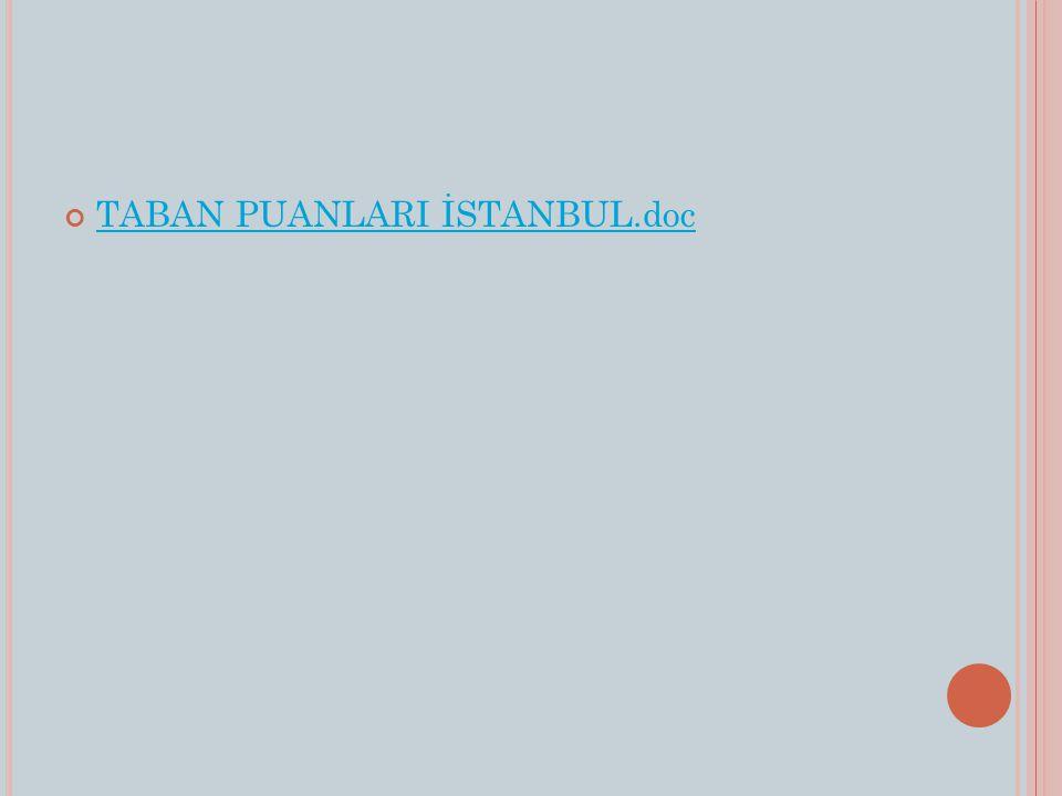 TABAN PUANLARI İSTANBUL.doc