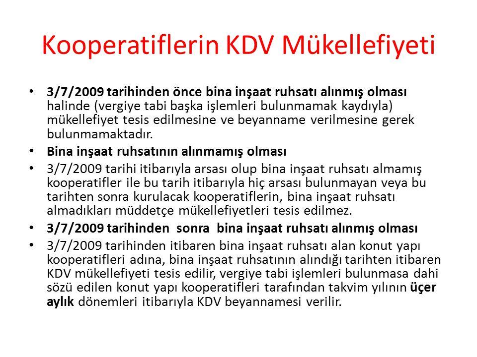 Kooperatiflerin KDV Mükellefiyeti