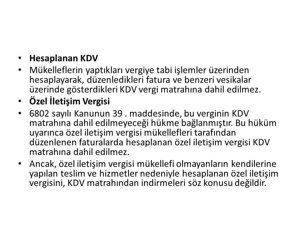 Hesaplanan KDV