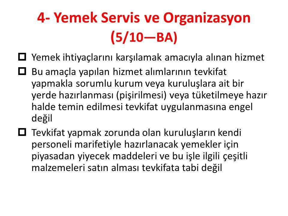 4- Yemek Servis ve Organizasyon (5/10—BA)