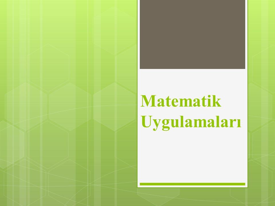 Matematik Uygulamaları