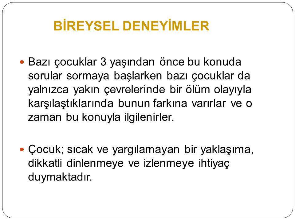 BİREYSEL DENEYİMLER
