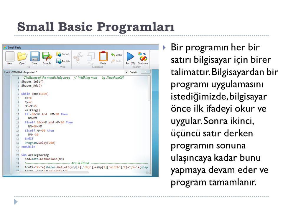 Small Basic Programları