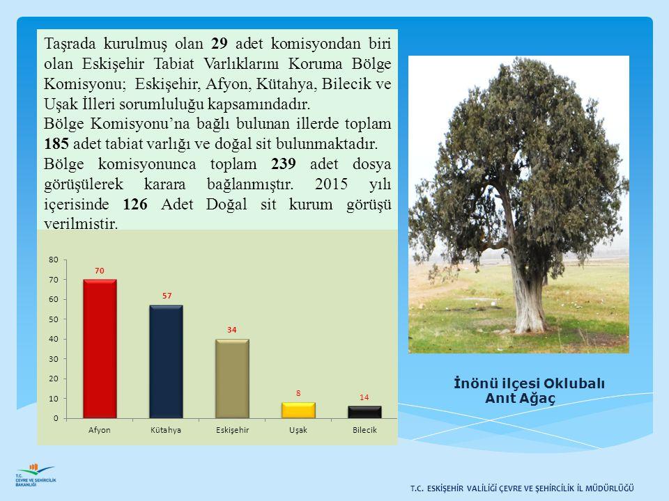 Taşrada kurulmuş olan 29 adet komisyondan biri olan Eskişehir Tabiat Varlıklarını Koruma Bölge Komisyonu; Eskişehir, Afyon, Kütahya, Bilecik ve Uşak İlleri sorumluluğu kapsamındadır.