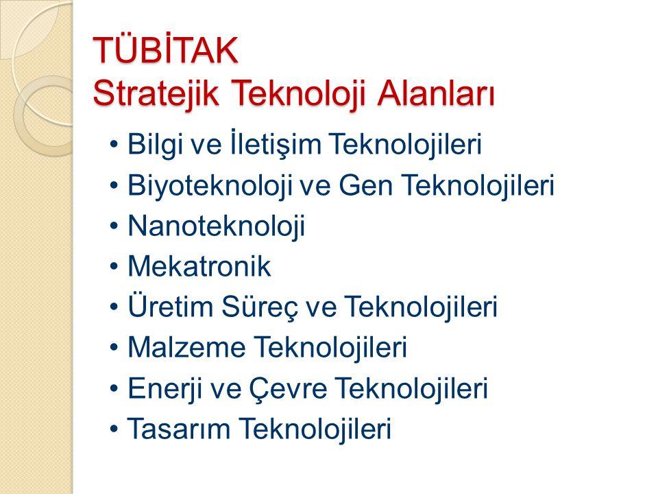 TÜBİTAK Stratejik Teknoloji Alanları