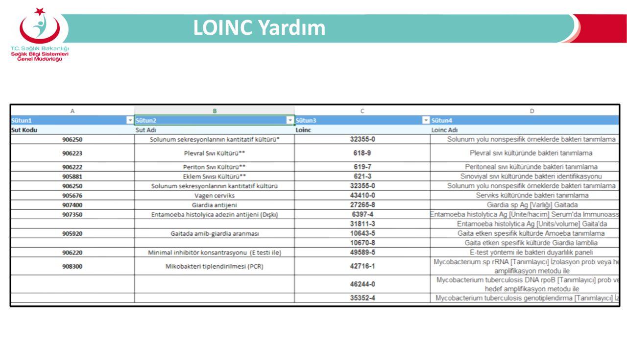 LOINC Yardım