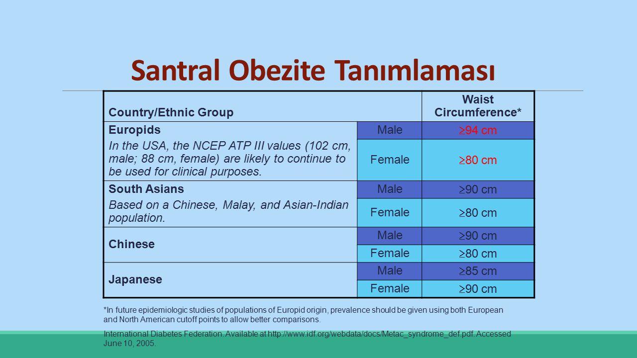 Santral Obezite Tanımlaması