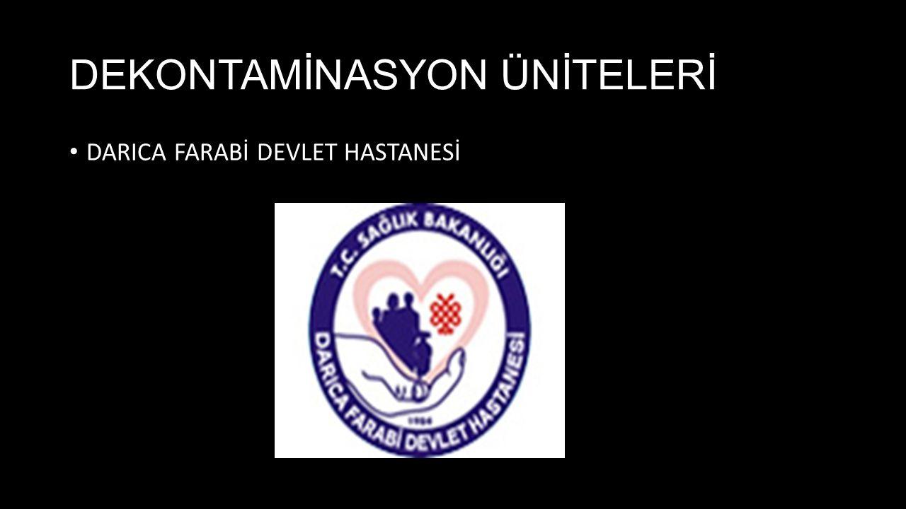 DEKONTAMİNASYON ÜNİTELERİ