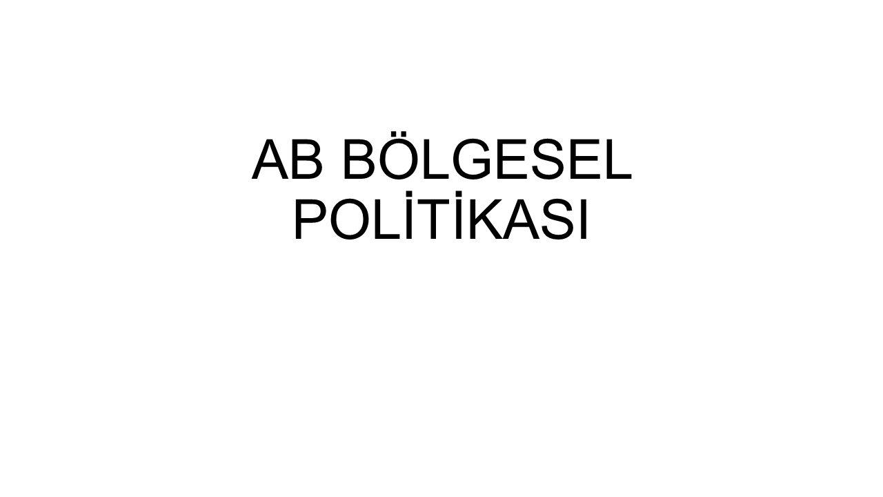 AB BÖLGESEL POLİTİKASI