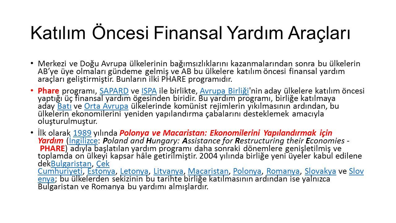 Katılım Öncesi Finansal Yardım Araçları